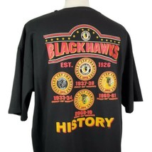 Chicago Blackhawks History T-Shirt XXL Double Sided Crew S/S Stanley Cup... - $18.99