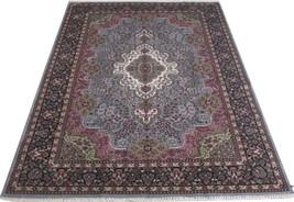 Trendy Grey Traditional Rugs 6' X 9' Oriental Rugs SaleJammu Cotton Silk - $563.39