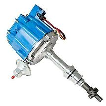 BIG BOCK FORD BBF 351C 351M 429 460 BLUE HEI Distributor + 8mm SPARK PLUG WIRES image 4