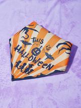 Halloween Slogan Graphic Pet Bandana, Dog Bandana, Cat Bandana, Happy halloween - $12.60