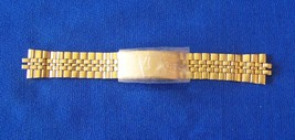 Vintage Seiko NOS Yellow Stainless Steel Special Cut Gent's Watch Band, Trifold  - $32.99