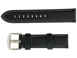 Hadley Roma 76240259028 Men's Black Calfskin 22mm Watch Band - $28.75