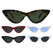Womens Classic Narrow Cat Eye Gothic Plastic Sunglasses - $9.95