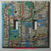 NYC New York City Subway Map Light Switch Outlet Wall Cover Plate Home decor image 3
