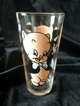 "Vintage 1973 Pepsi Glass Looney Tunes Warner Bros ""Porky Pig"" Collector Series - $5.00"
