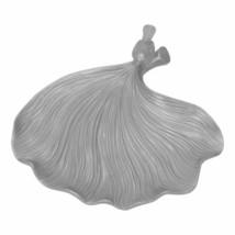 Upscale & Modern Silver Resin Ginkgo Leaf Plate - $78.48