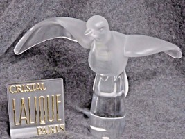 RARE Lalique France Signed Crystal Art Glass Large Flying Dove - $742.50