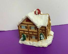 "Mini Christmas House Bi-Fold Folds Family Scene Inside 2""x 2.5"" Opens to 5"" - $12.86"