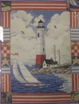 Bucilla Americana Lighthouse Sealed Counted Cross Stitch Kit 12x14 Nancy Rossi - $17.95