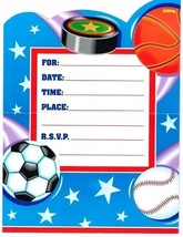 Action Sports Party Invitations - Birthday Party Supplies - $3.86