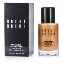Bobbi Brown Moisture Rich Foundation SPF15 30ml/1 oz New Box - $67.27
