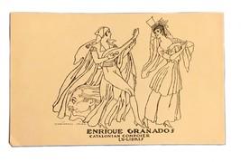Ex Libris Exlibris Bookplate Enrique Granados Catalonian Composer Ismael... - $29.69
