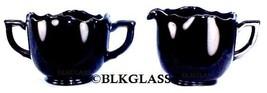 Diamond Glass Company Black Ebony Sugar Creamer Charade #99 Depression E... - $23.99