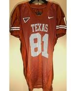 Texas Longhorns #81 NCAA Big 12 Nike Burnt Orange Mesh Long Football Jer... - $148.50