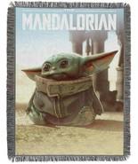 Star Wars The Child Baby Yoda Grogu 48 x 60 Jacquard Tapestry Throw Blan... - $44.55