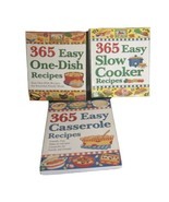 Lot Of 3 Cook Books:  365 Easy Slow Cooker Recipes, 365 Easy Casserole R... - $29.99