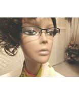 Women Eyeglass Frame Rectangle Square Prescr Rx Rim Metal Design Lens Blue Green - $42.58