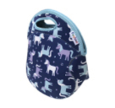 Funkins Girls Kids Unicorn School Lunchbox Purple Blue W/ Free Cloth Napkin - $22.66 CAD