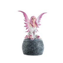 Tiny Fairy Figurines, Fairy Collection Figurines, Small Pink Winged Figu... - $28.93