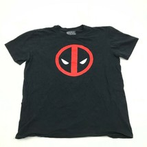 MARVEL Deadpool Shirt Size L Large Black Short Sleeve Tee Red Graphic Re... - $12.48