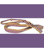 Direct Equine Poly Barrel Reins Purple and Tan - $9.99