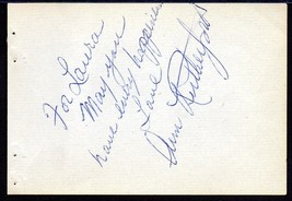 ANN RUTHERFORD Autograph signed on album page - $27.71