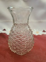 Vase Pineapple Design Clear Glass 1980 5 5/8 in. F.T.D image 2