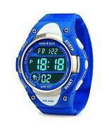 Boys Girls Sport Digital Watch, Kids Outdoor Waterproof Electronic (Blue) - $17.53