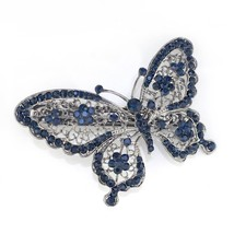Amazing Blue Crystal Butterfly Hair Clip - $12.99
