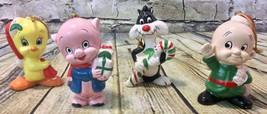 4 Vintage 1977 Looney Tunes Christmas Ornaments Dave Grossman Design - $39.59