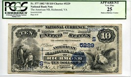 FR. 577 1882 2nd Charter Period 3rd Issue Value Back $10 PCGS Very Fine ... - $863.30