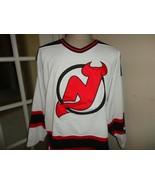 Vtg 90's White Starter Sewn New Jersey Devils NHL Hockey Jersey Adult Sz... - $54.40