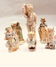 Collection Of 6 Vintage Bisque Porcelain Figurines German Germany - $125.00