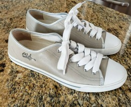 Cole Haan Putty Leather Casual Lace Up Oxfords Sneakers Shoes Women's 6B - $39.99