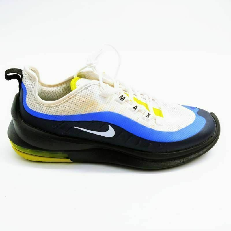 Nike Mens Air Max Axis Running Shoes Blue White AA2146-109 Lace Up Low Top 7 M - $31.46