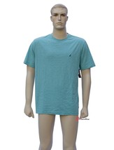 Nautica Mens Sleepwear PJ Pajama Shirt Green Blue Short Sleeve Cotton Me... - $12.00