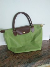 "Longchamp Le Pliage Type ""M"" Modele Depose Green Nylon Small Tote Bag - $22.00"