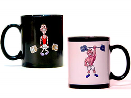 Muscle Man Color Changing Mug: Heat Sensitive Magic Mug with Funny Weak/... - $24.06