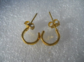 Gold Fashion Design Post Hoop Earrings  - $2.99
