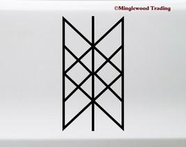 Web of Wyrd Vinyl Sticker Viking Matrix of Fate Skuld's Net Symbol Die C... - $4.94+