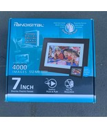 "Pandigital 7"" LCD Digital Picture Photo Frame Black PI7056AW New - $29.69"