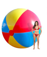 YhsBUY® 130cm Super Big Inflatable Beach Ball Colorful Swimming Pool Acc... - $76.16