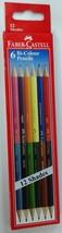 Faber-Castell  6 Bi-Colour Pencils (12 shades)  Color Pencils - $5.34