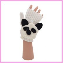 Flip Mittens Panda - Unisex One Size Fits Most - Mittens to Fingerless Gloves image 1