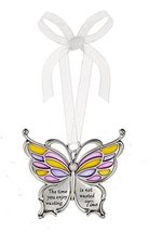 Ganz Butterfly Wishes Colored Ornament - The time you enjoy wasting is n... - $9.95