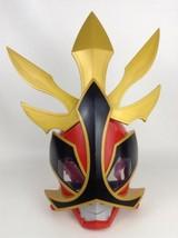 Power Rangers Super Samurai Red Ranger Deluxe Talking Costume Mask Cosplay - $29.65
