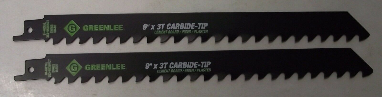 "Primary image for Greenlee 353-9535RCT 9"" x 3TPI Carbide Tipped Recip Saw Blades 2pcs Bulk Swiss"