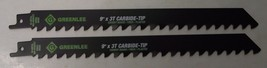 "Greenlee 353-9535RCT 9"" x 3TPI Carbide Tipped Recip Saw Blades 2pcs Bulk... - $9.90"