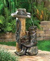 13056 Cascading Fountains Wild West Hat and Boo... - $127.96