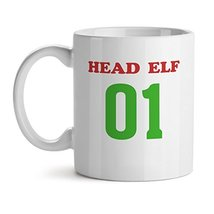 Head Elf 01 - Mad Over Mugs - Inspirational Unique Popular Office Tea Coffee Mug - $17.59